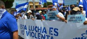 Articulo 66 Manifestantes en Managua participan en una marcha para pedir el fin de la violencia en Nicaragua