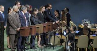 ONU/Manuel Elias Colecta de papeletas para la elección de los miembros del Consejo de Derechos Humanos en la Asamblea General el 12 de octubre de 2018