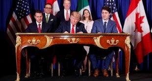 México, Canadá y EE.UU. firman acuerdo sucesor del Nafta