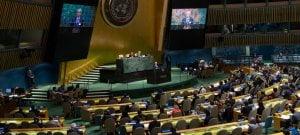 ONU/Eskinder Debebe La Asamblea General de la ONU escuchando el discurso del primer ministro de Mauricio, Pravind Kumar Juqnauth.
