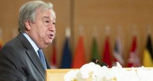 ONU/Jean Marc Ferré El Secretario General de las Naciones Unidas, António Guterres, durante su discurso en la 108.ª reunión de la Conferencia Internacional del Trabajo, el 21 de junio de 2019.