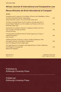 African Journal of International and Comparative Law - Volume 27, Issue 3, August, 2019