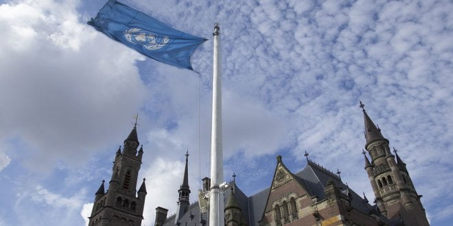 A view of the Peace Palace, seat of the International Court of Justice (ICJ) in The Hague, Netherlands, 2005