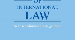 Nordic Journal of International Law – Volume 89 (2020): Issue 3-4 (Nov 2020)