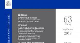 Revista de Derecho Comunitario Europeo - número 63, Mayo/Agosto 2019