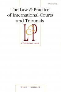 The Law & Practice of International Courts and Tribunals