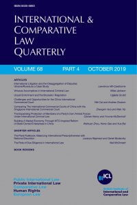 International & Comparative Law Quarterly - Volume 68 - Issue 4 - October 2019
