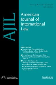 American Journal of International Law - Volume 113 - Issue 4 - October 2019