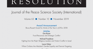 Journal of Conflict Resolution - Volume 63 Issue 10, November 2019