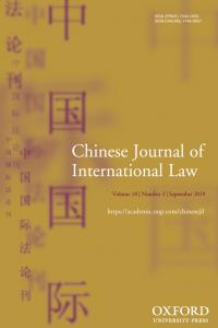 Chinese Journal of International Law - Volume 18, Issue 3, September 2019