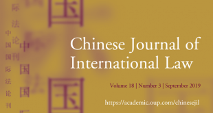 Chinese Journal of International Law - Volume 18, Issue 3, September 2019