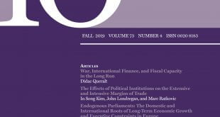 International Organization - Volume 73 - Issue 4 - Fall 2019