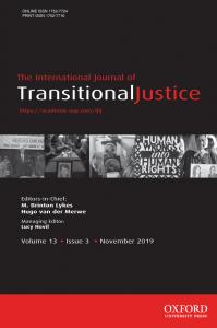 International Journal of Transitional Justice - Volume 13, Issue 3, November 2019