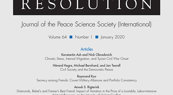 Journal of Conflict Resolution - Volume 64 Issue 1, January 2020
