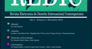 Revista Electrónica de Derecho Internacional Contemporáneo - Año 2 / Número 2 / Diciembre 2019