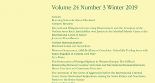Journal of Conflict & Security Law - Volume 24, Issue 3, Winter 2019