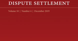 Journal of International Dispute Settlement - Volume 10, Issue 4, December 2019