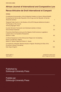 African Journal of International and Comparative Law - Volume 28, Issue 1, February, 2020