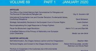 International & Comparative Law Quarterly - Volume 69 - Issue 1 - January 2020