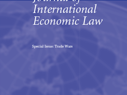 Journal of International Economic Law - Volume 22, Issue 4, December 2019