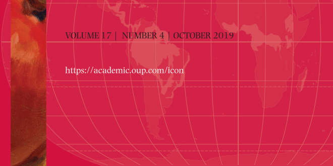 International Journal of Constitutional Law - Volume 17, Issue 4, October 2019