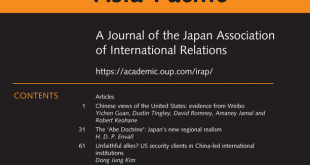 International Relations of the Asia-Pacific - Volume 20, Issue 1, January 2020