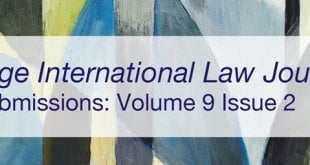 Call For Submissions: Cambridge International Law Journal