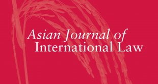 Asian Journal of International Law - Volume 10 - Issue 1 - January 2020