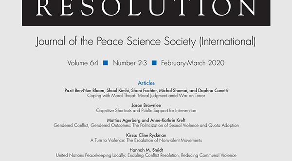 Journal of Conflict Resolution - Volume 64 Issue 2-3, February-March 2020
