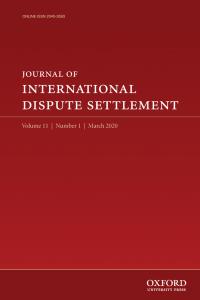 Journal of International Dispute Settlement - Volume 11, Issue 1, March 2020