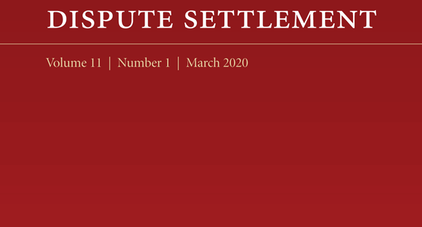 Journal of International Dispute Settlement - Volume 11, Issue 1, March 2020