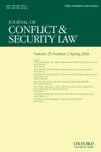 Journal of Conflict & Security Law - Volume 25, Issue 1, Spring 2020