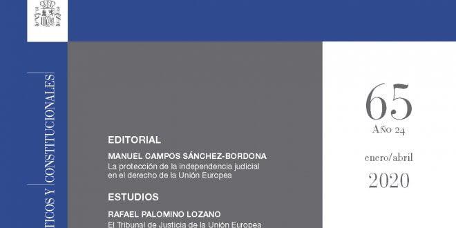Revista de Derecho Comunitario Europeo - número 65, Enero/Abril 2020