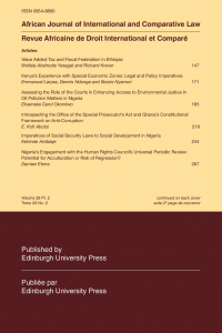 African Journal of International and Comparative Law - Volume 28, Issue 2, May, 2020