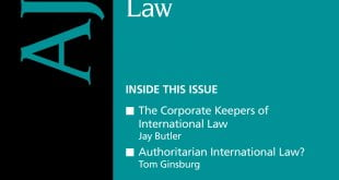 American Journal of International Law - Volume 114 - Issue 2 - April 2020