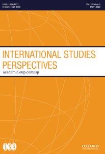 International Studies Perspectives - Volume 21, Issue 2, May 2020