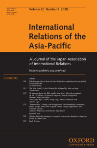 International Relations of the Asia-Pacific - Volume 20, Issue 2, May 2020