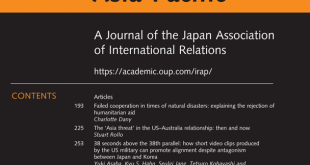 International Relations of the Asia-Pacific – Volume 20, Issue 2, May 2020
