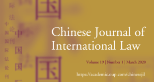 Chinese Journal of International Law - Volume 19, Issue 1, March 2020
