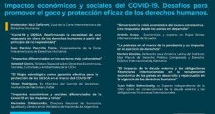 """Seminario: """"Impactos económicos y sociales del COVID-19. Desafíos para promover el goce y protección eficaz de los derechos humanos"""""""