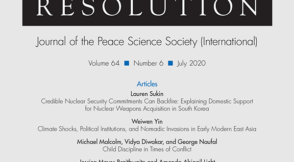 Journal of Conflict Resolution - Volume 64 Issue 6, July 2020
