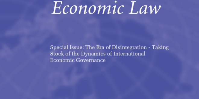 Journal of International Economic Law - Volume 23, Issue 2, June 2020