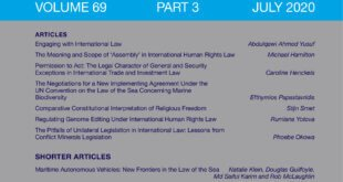 International & Comparative Law Quarterly – Volume 69 – Issue 3 – July 2020