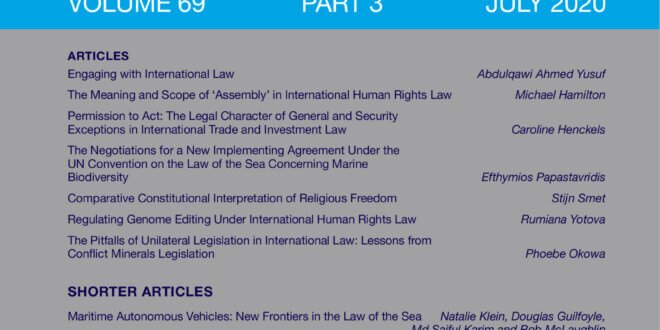 International & Comparative Law Quarterly - Volume 69 - Issue 3 - July 2020