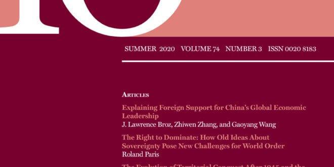 International Organization - Volume 74 - Issue 3 - Summer 2020