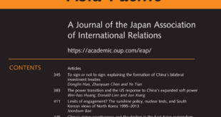 International Relations of the Asia-Pacific – Volume 20, Issue 3, September 2020