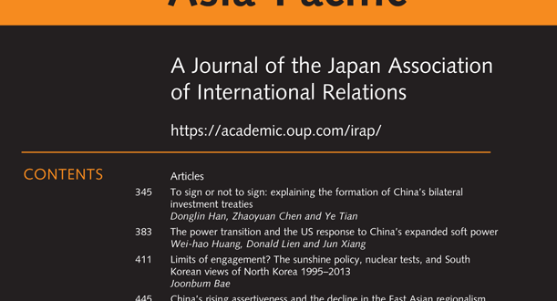 International Relations of the Asia-Pacific - Volume 20, Issue 3, September 2020