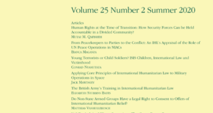 Journal of Conflict & Security Law – Volume 25, Issue 2, July 2020