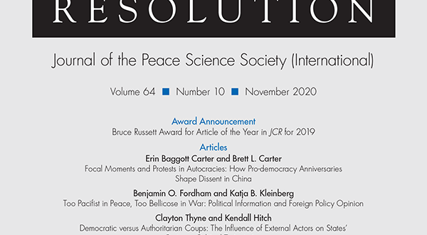 Journal of Conflict Resolution - Volume 64 Issue 10, November 2020