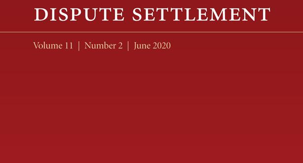 Journal of International Dispute Settlement - Volume 11, Issue 2, June 2020